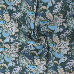 Vintage Paisley Print Cotton Poplin Fabric 8094-1 Bottle 145cm - £2.50 per metre
