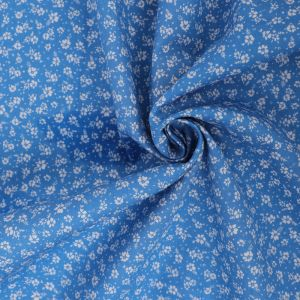 Ditsy Print Cotton Poplin Fabric 8062 -2 Denim Blue 145cm - £2.50 per metre