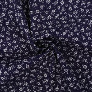 Ditsy Print Cotton Poplin Fabric 8062-5 Navy 145cm - £2.50 per metre
