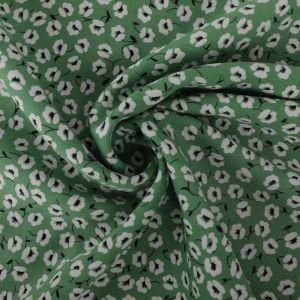 Floral Trail Print Viscose Twill Fabric F56-1 Green 145cm - £2.99 per metre