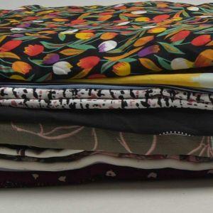 Print Chiffon Fabric Remnant Pack Assorted 150cm - £5.95 per kilo