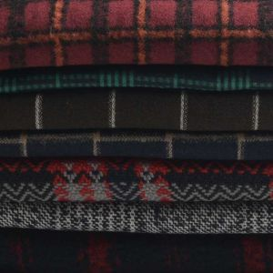Patterned Wool Mix Fabric Remnant Pack  150cm - £3.95 per kilo