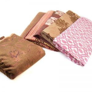Chenille Jacquard Upholstery Fabric Remnant Pack Assorted 140cm - £2.95 per kilo