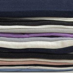 Plain Cotton Linen Fabric Remnant Pack Multi 137cm - £4.95 per kilo