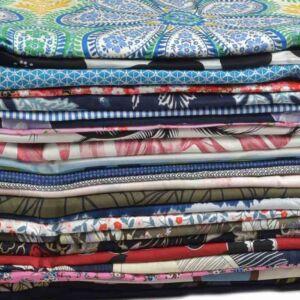 Print Cotton Dress Remnant Pack Multi 150cm