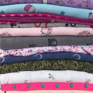 Print Jersey Knit Fabric Remnant Pack Assorted 150cm - £6.50 per kilo