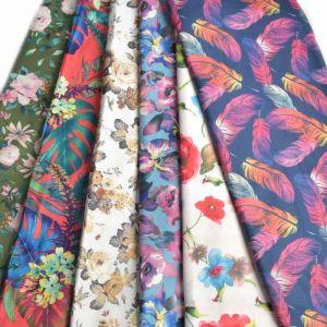 Print Scuba Jersey Knit Fabric Remnant Pack Assorted 160cm - £5.95 per kilo