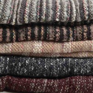 Metallic Boucle Knit Fabric Remnant Pack Assorted 148cm - £4.75 per kilo