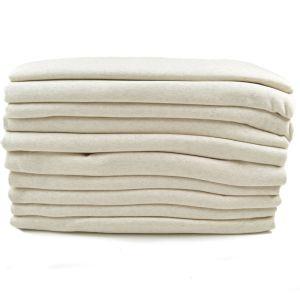 Melange Fleece Fabric Remnant Pack Light Grey Fleck 170cm - £4.25 per kilo