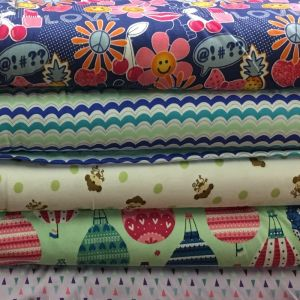 Print Cotton Interlock Jersey Fabric  Assorted 150cm