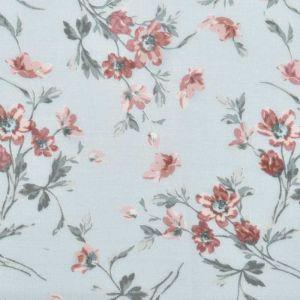 Floral Print Javanaise Viscose 2 Sky Blush 150cm