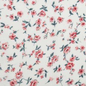 Floral Print Javanaise Viscose 23 Cream Peach 150cm