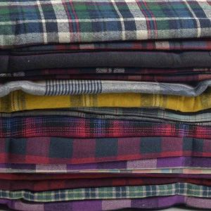 Brushed Cotton Checks Fabric Remnant Pack Assorted 150cm - £5.95 per kilo