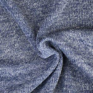 Plain Spandex Rib Jersey Fabric 4 Blue 150cm - £3.95 per metre