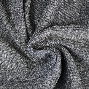 Plain Spandex Rib Jersey Fabric 2 Charcoal 150cm - £3.95 per metre