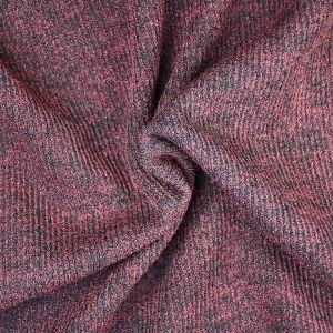 Plain Spandex Rib Jersey Fabric 5 Maroon 150cm - £3.95 per metre