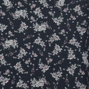 Ditsy Floral Print Viscose Poplin Fabric 3 Navy 138cm