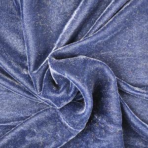 Micro Velveteen Fabric Navy 118cm - £3.35 per metre