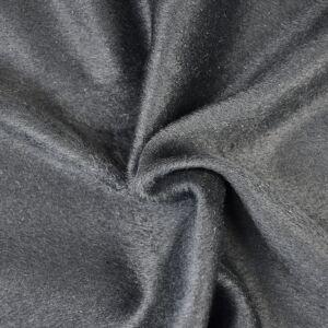 Plain Wool Blended Melton Fabric 2 Black 145cm - £2.99 per metre