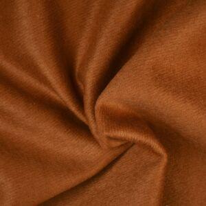 Plain Wool Blended Melton Fabric 18 Tan 145cm - £2.99 per metre