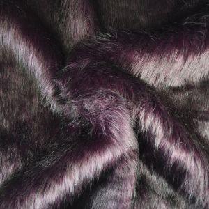 Hi Pile Faux Fur Fabric Plum 150cm - £6.95 per metre