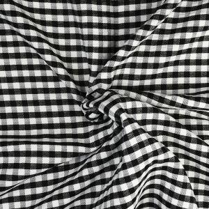 Gingham Check Fabric 14 Black 145cm - £2.85 per metre