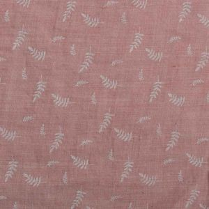 Embossed Fern Cotton Blend Fabric - TC973 - 33 Dusty Pink 145cm