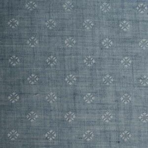 Embossed Fern Cotton Blend Fabric TC973-4 Denim Blue 145cm