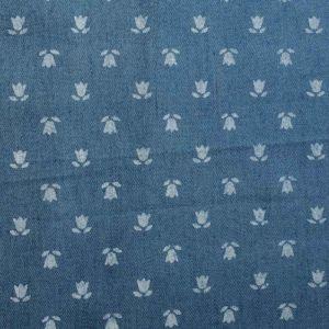 Tulip Print Denim Fabric - BC040-2 Light Blue 145cm