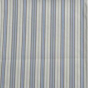 Stripe Print Cotton Lawn Fabric  2 Cream Blue 150cm