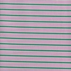 Stripe Print Cotton Lawn Fabric  4 Pink Green 150cm