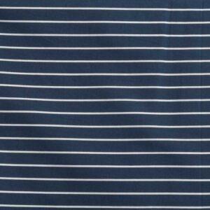 Stripe Print Cotton Lawn Fabric  5 Navy White 150cm