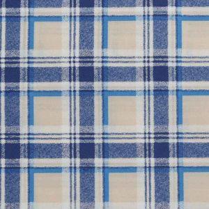 Check Print Cotton Lawn Fabric  10 Cream Royal  150cm