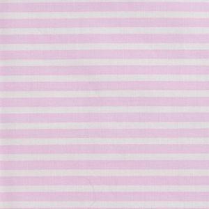 Stripe Print Cotton Lawn Fabric  12 Pink Ivory 150cm