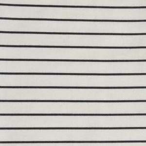 Stripe Print Cotton Lawn Fabric  14 Cream Black 150cm
