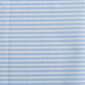 Stripe Print Cotton Lawn Fabric  18 Pale Blue White 150cm