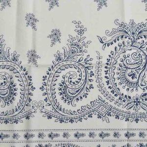 Vintage Print Cotton Lawn Fabric  19 Ivory Navy 150cm