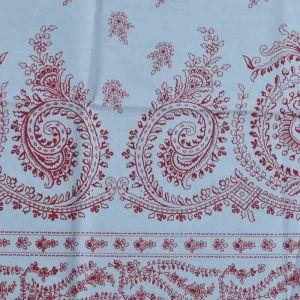 Vintage Print Cotton Lawn Fabric  21 Pale Blue Wine 150cm