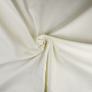 Plain Midweight Cotton Spandex Twill Fabric 2 Off White 135cm - £1.55 per metre