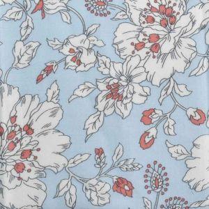 Astrantia Print Javanaise Viscose Fabric 37 Sky Blue 150cm