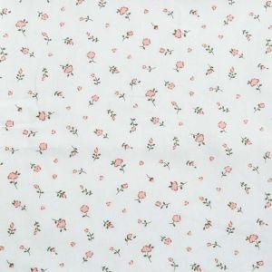 Floral Print Cotton Fabric  1 Ivory Blush 150cm