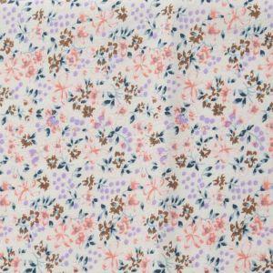 Floral Print Cotton Fabric  3 Coral 150cm