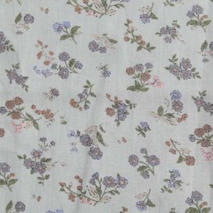 Floral Print Cotton Fabric  5 Grey 150cm