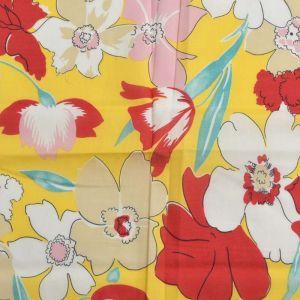 Floral Print Cotton Fabric  15 Yellow 150cm