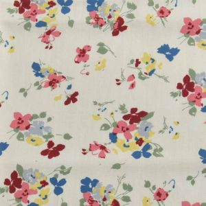 Floral Print Cotton Fabric  23 Cream 150cm