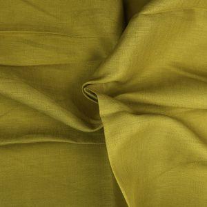 Plain 14s Linen Fabric 138 Ochre 138cm - £6.50 per metre