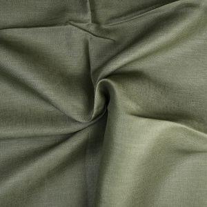 Plain 14s Linen Fabric 43 Khaki 138cm - £6.50 per metre
