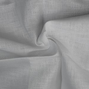 Plain 14s Linen Fabric 1 White 138cm - £6.50 per metre