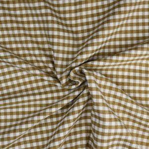 Gingham Check Fabric 11 Biscuit 145cm - £2.85 per metre