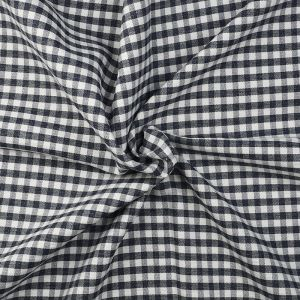 Gingham Check Fabric 13 Navy 145cm - £2.85 per metre